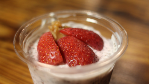 Strawberry, Chia and Nut Butter Protein Pot